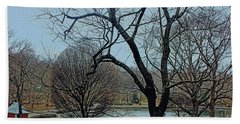 Afternoon In The Park Hand Towel by Sandy Moulder