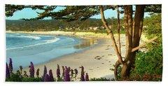 Afternoon On Carmel Beach Hand Towel