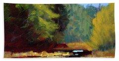 Afternoon On The River Bath Towel by Nancy Merkle