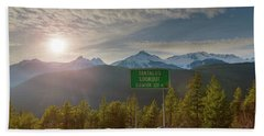 Afternoon Sun Over Tantalus Range From Lookout Hand Towel