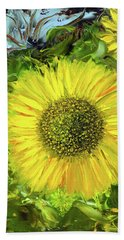 Afternoon Sunflowers Bath Towel