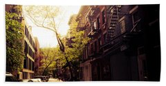 Afternoon Sunlight On A New York City Street Hand Towel