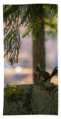 Against Brighter Times Hand Towel by Rose-Marie Karlsen