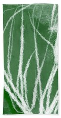 Agave- Abstract Art By Linda Woods Bath Towel