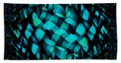 Agave Blues Abstract Bath Towel by Stephanie Grant