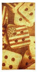 Age Old Fashion Buttons Bath Towel