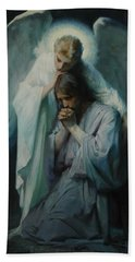Agony In The Garden By Frans Schwartz, 1898 3 Hand Towel