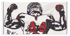 Bath Towel featuring the drawing Ahmad Bradshaw by Jeremiah Colley