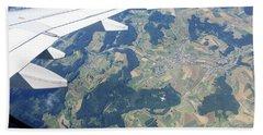 Air Berlin Over Switzerland Bath Towel