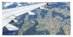 Hand Towel featuring the photograph Air Berlin Over Switzerland by Travel Pics