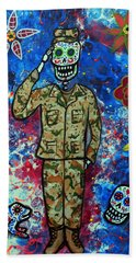 Air Force Day Of The Dead Bath Towel
