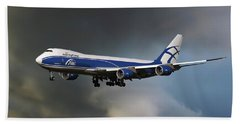 Airbridge Cargo Boeing 747-8hvf Bath Towel