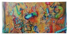Digital Landscape, Airbrush 1 Hand Towel