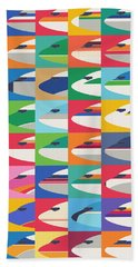 Airline Livery - Small Grid Bath Towel