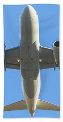 Airplane Isolated In The Sky Bath Towel