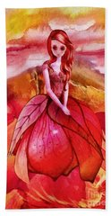Hand Towel featuring the painting Aithne by Mo T