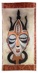 Aje Mask Hand Towel by Bankole Abe