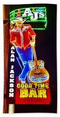 Aj's Good Time Bar Bath Towel
