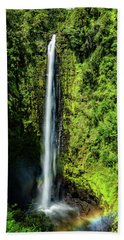Akaka Falls With Rainbow Bath Towel