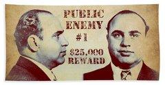 Al Capone Most Wanted Poster Bath Towel