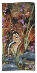 Bath Towel featuring the painting Al Fresco Dining With A View by Judith Rhue