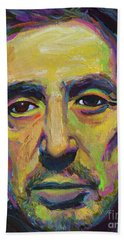 Hand Towel featuring the painting Al Pacino by Robert Phelps