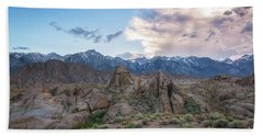 Alabama Hills And Sierra Nevada Mountains Hand Towel