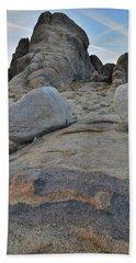 Alabama Hills Boulders At Dusk Bath Towel