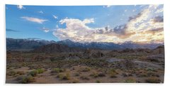 Alabama Hills Sunset  Hand Towel