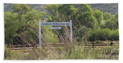 Alamos Schoolhouse Hand Towel by Suzanne Oesterling