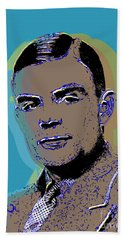 Bath Towel featuring the digital art Alan Turing by Jean luc Comperat