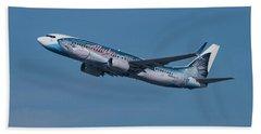 Alaska Airlines Boeing 737-800 With Wild Alaska Seafood Livery  Bath Towel