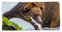 Alaska Brown Bear Hand Towel