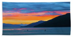 Alaska Fishermans Sunset Bath Towel