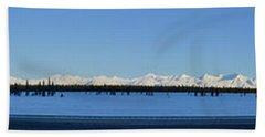 Alaska Highway Panorama Hand Towel