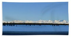 Alaska Highway Panorama Bath Towel
