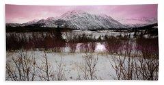 Alaska Range Pink Sky Bath Towel