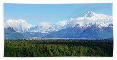 Alaskan Denali Mountain Range Bath Towel