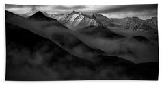 Alaskan Peak In The Shadows Bath Towel