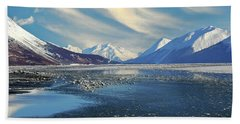 Alaskan Winter Landscape Hand Towel