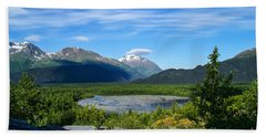 Alaska's Exit Glacier Valley Bath Towel by Jennifer White