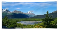 Alaska's Exit Glacier Valley Bath Towel