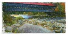 Albany Covered Bridge Nh. Bath Towel