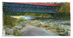 Albany Covered Bridge Nh. Bath Towel