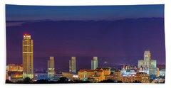 Albany Skyline Twilight Hand Towel by Neil Shapiro