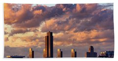 Albany Sunset Skyline Bath Towel