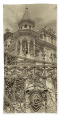 Hand Towel featuring the photograph Albert Chamas Villa by Nigel Fletcher-Jones