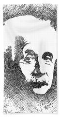 Albert Einstein Bw  Hand Towel by Mihaela Pater