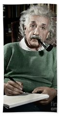 Albert Einstein - To License For Professional Use Visit Granger.com Bath Towel