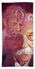 Albert Schweitzer Portrait Hand Towel